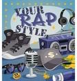 Rap Music Concept vector image