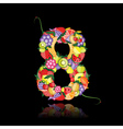 Number eight made from fruit vector image