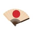 Japanese fan icon cartoon style vector image