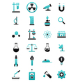 Turquoise black science icons set vector image vector image