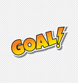 goal cartoon sport text sticker vector image