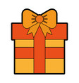 cute orange gift cartoon vector image