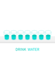 Drink eight glasses of water Infographic Glasses vector image