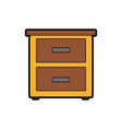 isolated furniture design vector image