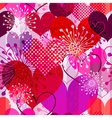 Seamless valentine striped pattern vector image