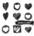 Set of abstract hearts vector image