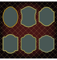 Set of design elements-golden vintage frames vector image
