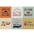 Set of vintage food typographic quotes vector image