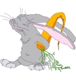 with the image of a gray rabbit vector image