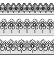 Set of lace borders vector image