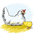 Chicken and chick vector image vector image