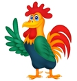 Cute rooster cartoon waving vector image
