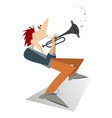 cartoon trumpeter isolated vector image vector image