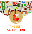 cocktail bar banner vector image