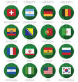 soccer flag icons vector image