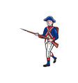 American Revolutionary Soldier Marching Cartoon vector image