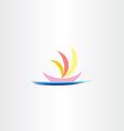 boat in sea logo icon sign vector image
