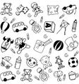 Children doodle funny vector image