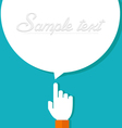 forefinger with bubble vector image