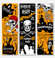 halloween holiday banner of pirate costume party vector image