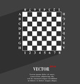 Modern Chess board symbol Flat modern web design vector image