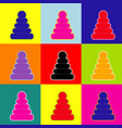 pyramid sign pop-art style vector image