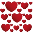 red hearts love valentine poster design vector image