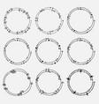 set of dividers round frames for decoration vector image