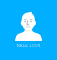 user male icon vector image