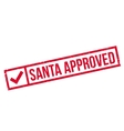 Santa Approved rubber stamp vector image