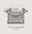 retro typewriter vintage vector image