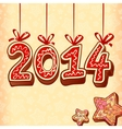 Christmas sweets style new year sign vector image vector image
