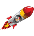Astronaut with rocket vector image vector image