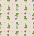 Hipster Seamless Texture Pattern with Vintage vector image