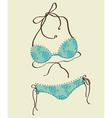 women bathing suits vector image