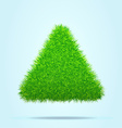 Green Grass Triangle or Pyramid on a Blue Clear vector image