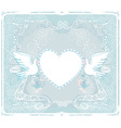 romantic card with love birds - Wedding Invitation vector image
