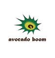 avocado boom concept design template vector image