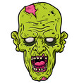 cartoon rotting zombie head vector image