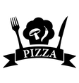 isolated icon - pizza symbol vector image