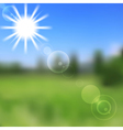 Sunny nature abstract design vector image