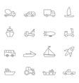 Transport icon set outline vector image