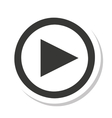 media player button play icon vector image