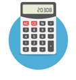 Electronic calculator vector image