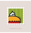 Thanksgiving Pie stamp Harvest vector image