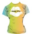 Kisses t shirt vector image