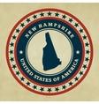 Vintage label New Hampshire vector image