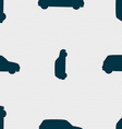 Jeep icon sign Seamless pattern with geometric vector image