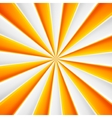 Yellow and white abstract rays circle vector image