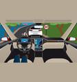 autonomous self-driving car vector image
